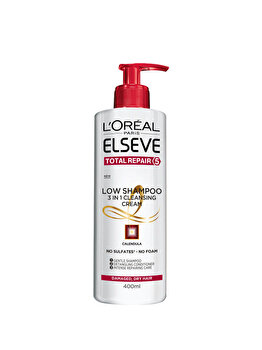 Sampon ingrijire experta L'Oreal Paris Elseve Low Shampoo Total Repair 5 pentru par degradat deteriorat, 400 ml de la Elseve
