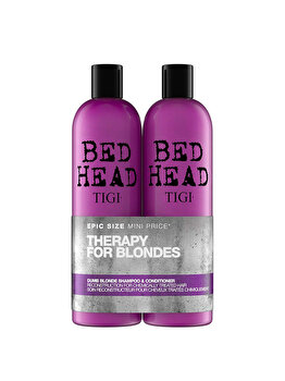Set Sampon, 750 ml + Balsam, 750 ml, Tigi - Bed Head, Dumb Blonde - pentru parul blond