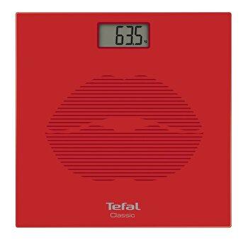 Cantar de baie Tefal Clasic PP1149V0, 30x30x2.2 cm, max 160 kg, rosu de la Tefal