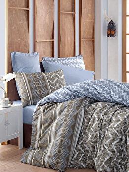 Set lenjerie pentru pat dublu Cotton Box, 129CTN2489, Multicolor de la Cotton Box