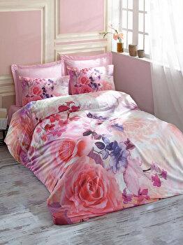 Set lenjerie pentru pat dublu Cotton Box, 129CTN2479, Multicolor de la Cotton Box