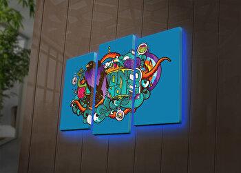 Tablou iluminat Ledda, 3 Piese, 254LED4280, Multicolor de la Ledda