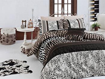 Set lenjerie pentru pat dublu Nazenin Home, 164NZN2261, Multicolor