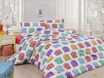 Set lenjerie pentru pat dublu Nazenin Home, 164NZN2276, Multicolor de la Nazenin Home
