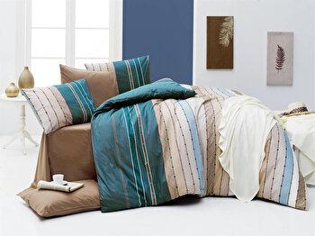 Set lenjerie pentru pat dublu Nazenin Home, 164NZN2236, Multicolor de la Nazenin Home