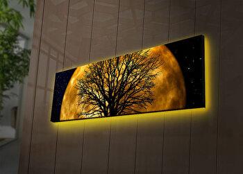 Tablou pe panza iluminat Ledda, 254LED3269, 30 x 90 cm, Multicolor