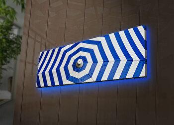 Tablou pe panza iluminat Ledda, 254LED3271, 30 x 90 cm, Multicolor de la Ledda