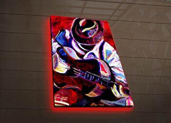 Tablou pe panza iluminat Ledda, 254LED3279, Multicolor