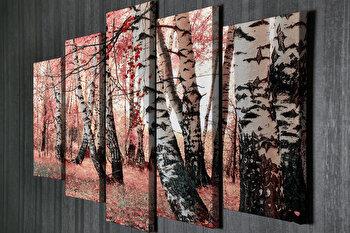 Tablou decorativ pe panza Majestic, 5 Piese, 257MJS3210, Multicolor de la Majestic