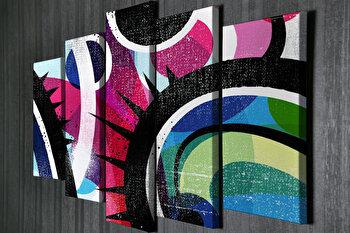 Tablou decorativ pe panza Majestic, 5 Piese, 257MJS3212, Multicolor de la Majestic
