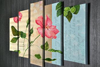 Tablou decorativ pe panza Majestic, 5 Piese, 257MJS3215, Multicolor de la Majestic