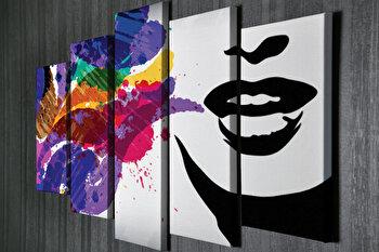 Tablou decorativ pe panza Majestic, 5 Piese, 257MJS3291, Multicolor