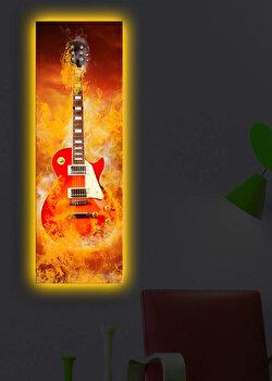 Tablou iluminat Shining, 239SHN1268, 30 x 90 cm, Galben de la Shining