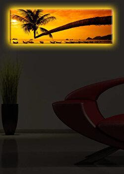 Tablou iluminat Shining, 239SHN1272, 30 x 90 cm, Galben de la Shining