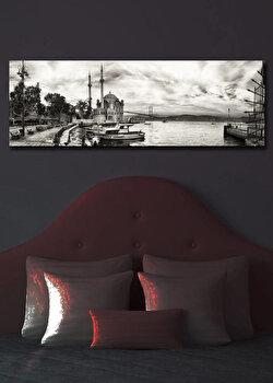 Tablou pe panza iluminat Shining, 239SHN1201, 30 x 90 cm, Multicolor de la Shining