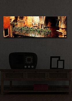 Tablou pe panza iluminat Shining, 239SHN1210, 30 x 90 cm, Multicolor de la Shining