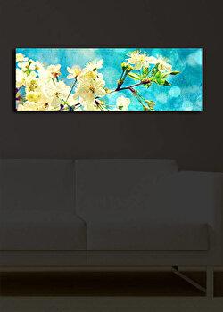 Tablou pe panza iluminat Shining, 239SHN1215, 30 x 90 cm, Multicolor de la Shining