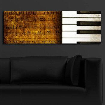 Tablou pe panza iluminat Shining, 239SHN1217, 30 x 90 cm, Multicolor de la Shining