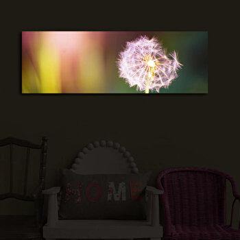 Tablou pe panza iluminat Shining, 239SHN3222, 30 x 90 cm, Multicolor