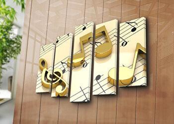 Tablou decorativ Bonanza, 5 Piese, 242BNZ4250, Multicolor