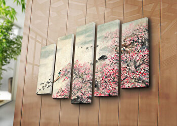 Tablou decorativ pe panza Horizon 5 Piese, 237HRZ4252, Multicolor de la Horizon
