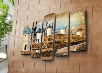 Tablou decorativ pe panza Horizon 5 Piese, 237HRZ4260, Multicolor de la Horizon