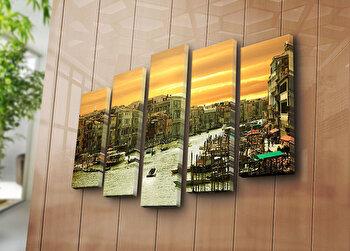 Tablou decorativ pe panza Horizon 5 Piese, 237HRZ3251, Multicolor de la Horizon