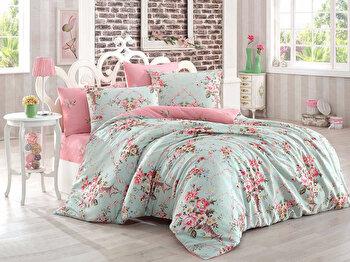 Set lenjerie pentru pat dublu Eponj Home, 143EPJ1886, Multicolor de la Eponj Home