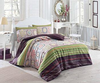 Set lenjerie pentru pat dublu Eponj Home, 143EPJ1248, Multicolor de la Eponj Home