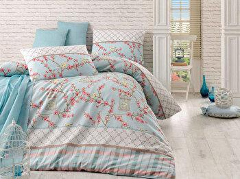 Set lenjerie pentru pat dublu Eponj Home, 143EPJ1429, Multicolor de la Eponj Home