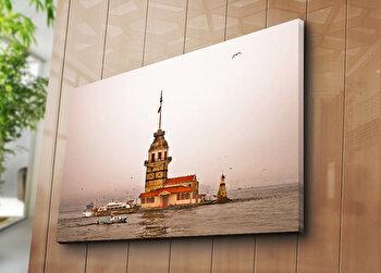 Tablou decorativ pe panza Horizon, 237HRZ5206, 70 x 100 cm, Multicolor