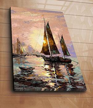 Tablou decorativ pe panza Horizon, 237HRZ5227, 70 x 100 cm, Multicolor