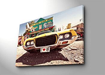 Tablou decorativ pe panza Horizon, 237HRZ5289, 70 x 100 cm, Multicolor
