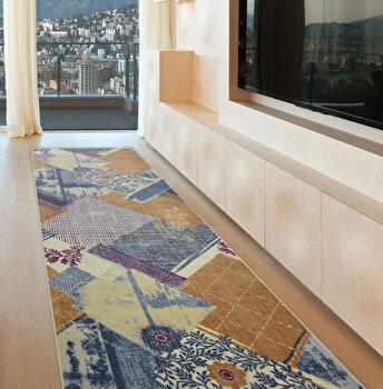 Covor Confetti, poliamida 100 procente, 80 x 125 cm, 783CNF8479, Albastru de la Confetti