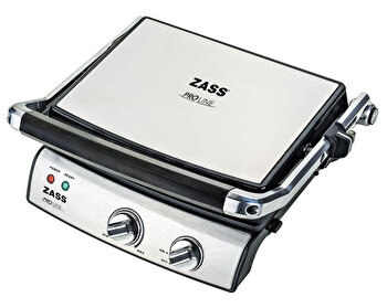 Grill electric Zass Grill & Panini Chef ZPG 02, Putere 2000W, Placi detasbile de la Zass