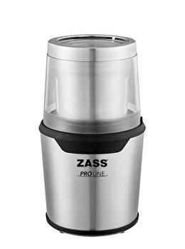 Rasnita de cafea Zass ZCG 10, Putere 200W, Sistem 2 in 1 pentru cafea si condimente