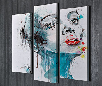 Tablou decorativ pe panza Symphony, 762SYM3258, Multicolor