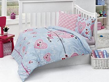 Set lenjerie de pat pentru copii Nazenin Home, 164NZN2003, Multicolor de la Nazenin Home