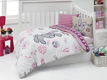 Set lenjerie de pat pentru copii Nazenin Home, 164NZN2006, Multicolor de la Nazenin Home