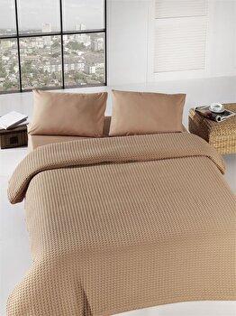 Cuvertura de pat 200×240 cm, Eponj Home, 143EPJ5202, Bej de la Eponj Home