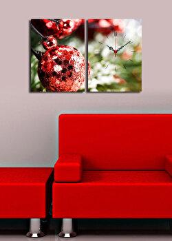 Ceas decorativ de perete Christmas Wall, 229CST1604, Multicolor de la Christmas Wall