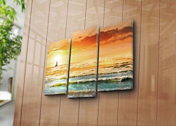 Tablou decorativ Bonanza,3 Piese, 242BNZ3258, Multicolor