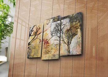 Tablou decorativ pe panza Bonanza, 3 Piese, 242BNZ3268, Multicolor de la Bonanza