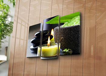 Tablou decorativ pe panza Bonanza, 3 Piese, 242BNZ3207, Multicolor de la Bonanza