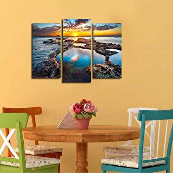 Tablou decorativ pe panza Bonanza, 3 Piese, 242BNZ3270, Multicolor de la Bonanza