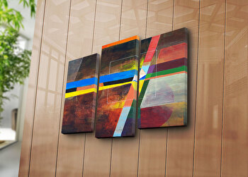 Tablou decorativ pe panza Canvart, 3 Piese, 249CVT1241, Multicolor