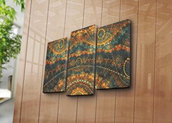 Tablou decorativ pe panza Canvart, 3 Piese, 249CVT1250, Multicolor de la Canvart
