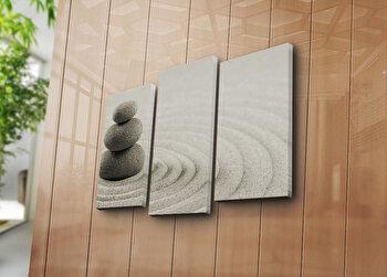 Tablou decorativ pe panza Canvart, 3 Piese, 249CVT1221, Multicolor de la Canvart