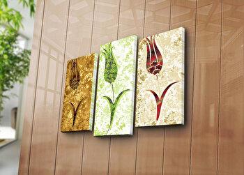 Tablou decorativ pe panza Canvart, 3 Piese, 249CVT1222, Multicolor de la Canvart