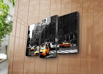 Tablou decorativ pe panza Horizon, 3 Piese, 237HRZ1283, Multicolor de la Horizon